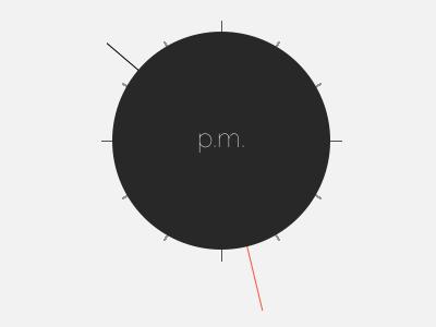 Chronotime clock muji time day