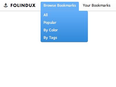 Folindux Dropdown dropdown navigation interface header menu