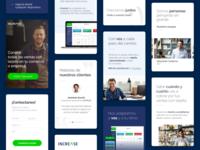 Responsive site • Increasecard user interface fintech website mobile version mobile ux ui responsive