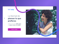 Homepage • Welp wenance hero credito fintech ux ui landing homepage web  design loans welp
