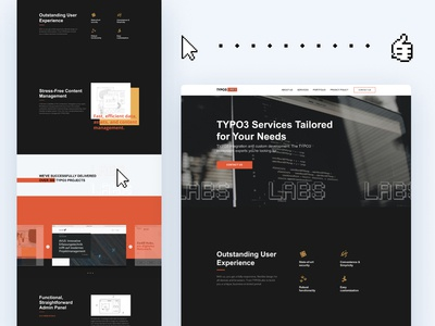 IT Web Services business services tilda figma branding concept webdesign website technology it design ui web