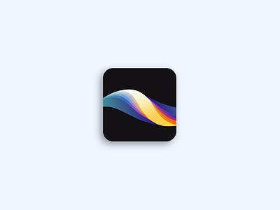 Rebound: Procreate logo graphicdesign graphic illustration wave geometry vector rainbow illustrator procreate logotype logo design