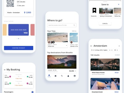 Mobile Travel-builder app