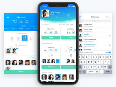 Meet planner calendar schedule connected search team coworkers meeting design mobile ios iphone x