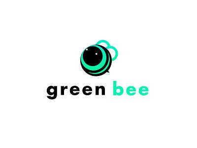 Green Bee game logo games company illustration green animal logo ui design logo bee