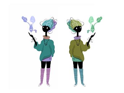Lettuce Ladies illustration sketch doodle nature illustration women nature