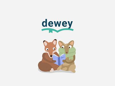 Dewey reading app colorful animation ux ui mobile app store design appstore ios animal illustration animals book club reading books