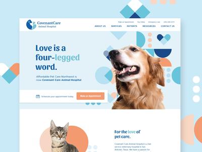 Covenant Care Website pet website website vet animal cat hearts shapes pattern dog pets pet veterinarian pet care