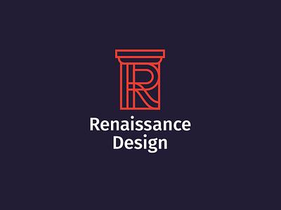 Renaissance Logo architecture logo architecture design column renaissance architecture architect logo