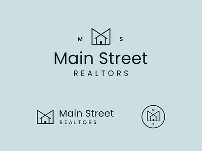 Main Street Logo house realtors realtor logo
