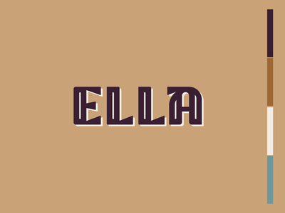 Ella Logo typography ty a brand apartments logo