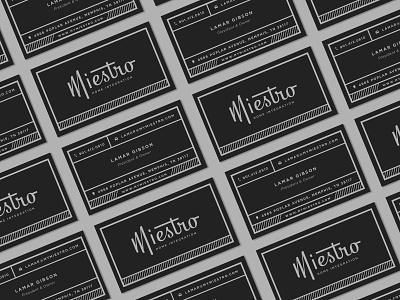 Miestro Businesscards sound wave sound memphis music logo stationery business card brand