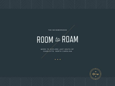 Room to Roam Layout slide design key pattern typography apartments type