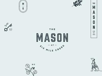 The Mason Brand Elements apartments vertical logo logo leaf icon key leaves dalmation