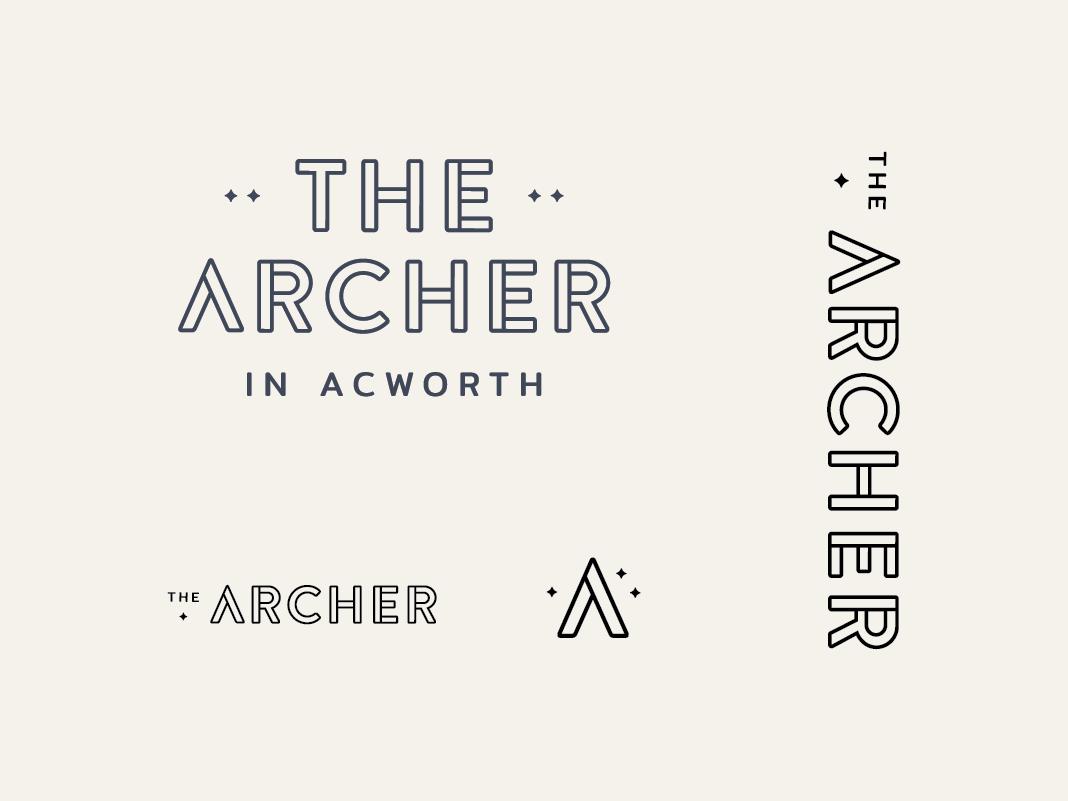 The Archer Logo logo family star tent archer camping archery apartments brand logo