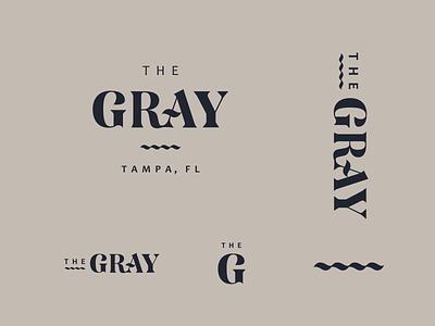 The Gray Logo branding ocean logo florida tampa serif wave gray