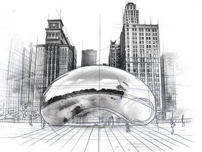 "Chicago Illustration ""The Bean"""