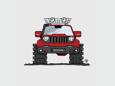 Rugged Renegade WIP handdrawn vector illustration jeep renegade jeep