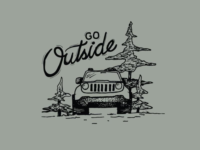 Go Outside handdrawn illustration renegade illustration vector
