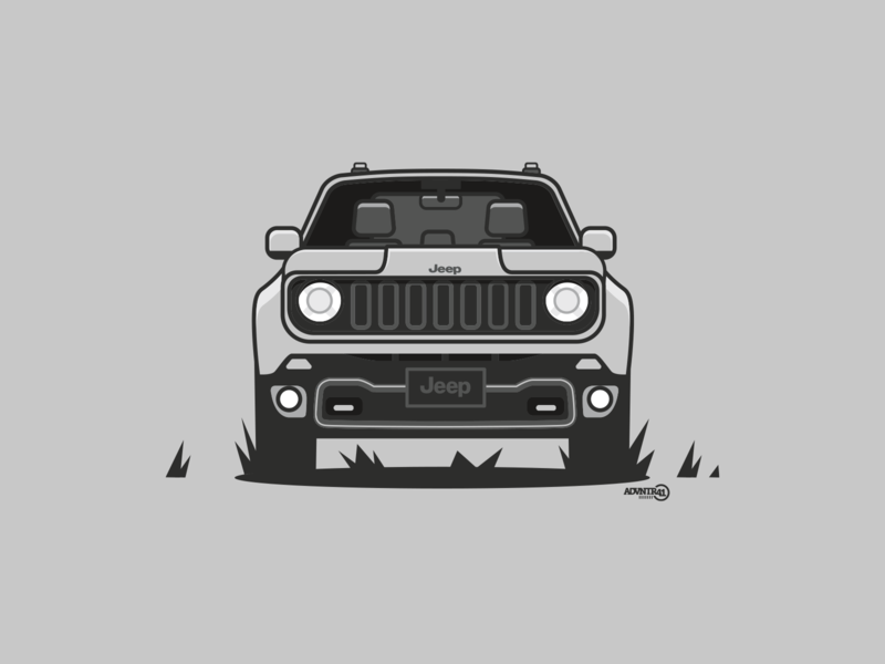 Jeep Renegade illistration vector illustration renegade jeep
