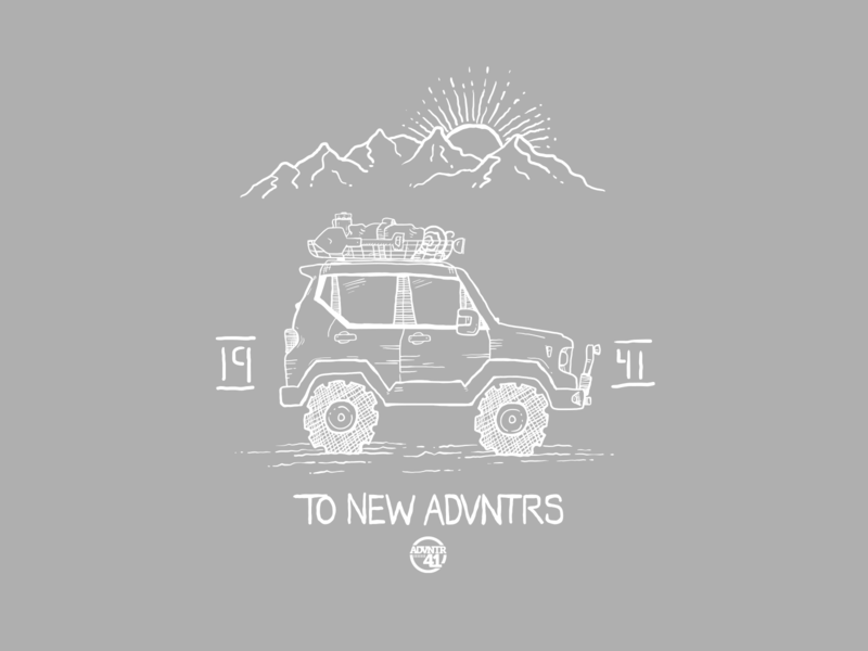 To New ADVNTRs sketch handdrawing mountains adventure nature outdoors jeep renegade jeep
