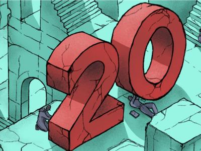 2019 Year In Review editorial illustration digital illustration editorial creative design art drawing color illustrator illustration