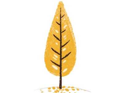 Tree <3 experiment autumn fall texture procreate illustation tree
