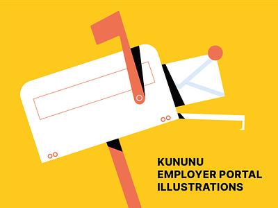Kununu Illustrations branding adobe illustrator drawing b2b illustration commercial illustration flat vector vector illustration design illustration