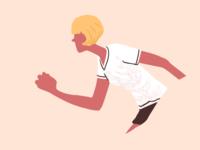 1920s running girl