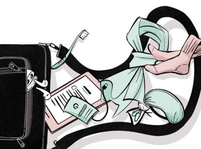 Carry On Items for Tourlane photoshop procreate creative editorial color drawing illustrator art print design design digital illustration editorial illustration tourlane illustrator illustration
