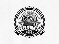 Rising Cock Coffee Badge