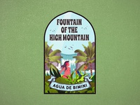 Fountain of the high mountain