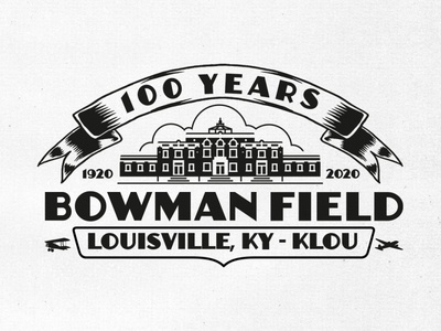 Bowman Field 100 years celebration logo.