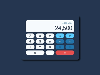 Calculator — Daily UI #004 struggle blue numbers calculator 004 design dailyui
