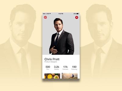 User Profile — Daily UI #006 chris pratt user profile ui mobile tan app pinterest 006 design dailyui