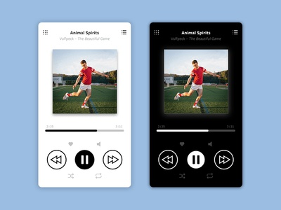 Music Player — Daily UI #009 vulfpeck minimalist player music light dark mobile design ui 009 dailyui