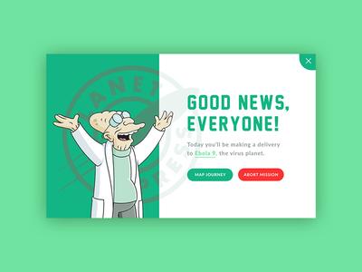 Pop-Up — Daily UI #016 professor farnsworth pop-up overlay futurama design ui 016 dailyui