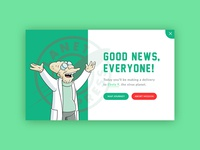 Pop-Up — Daily UI #016 professor farnsworth pop-up overlay futurama design ui 016 dailyui