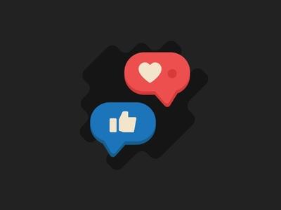 Social *Splat* instagram facebook poke like social media social illustration