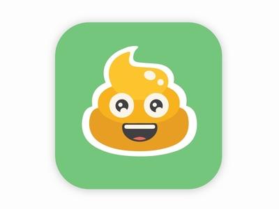 Crapps store poo green avatar emoji ios icon app