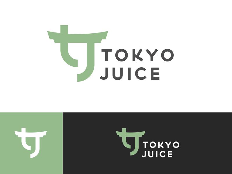 Tokyo Juice design green fruit branding brand logo japan juice