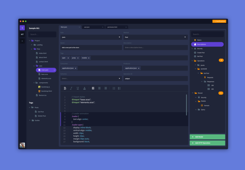 Code Editor night mode dark app ux ui provisioning backend coding code editor editor code