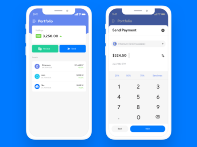 Crypto Wallet banking cash crypto currency crypto