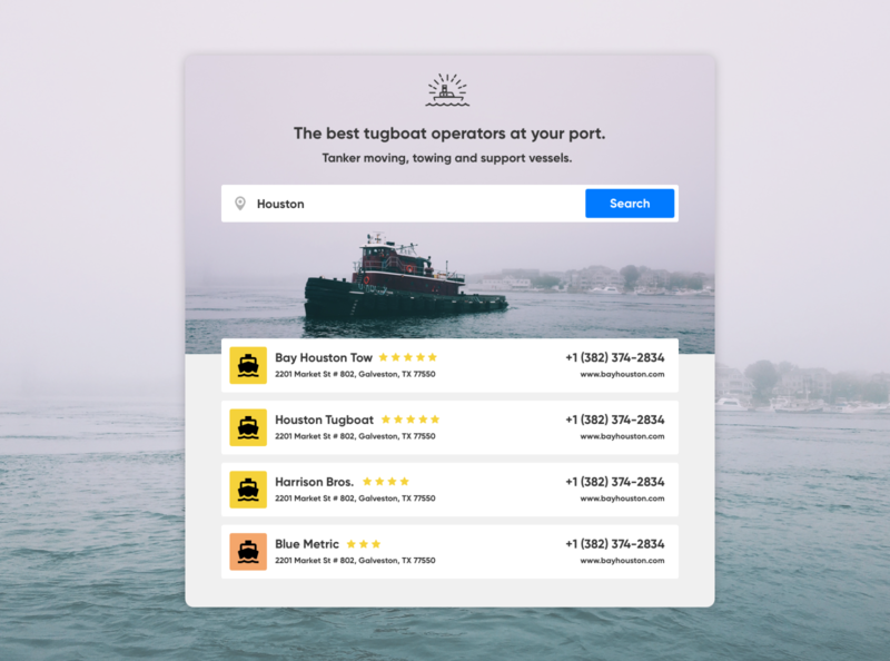 Tugboats.com boating port shipping container sail sailing tugboat ai shipping directory search boat