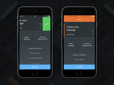 To–Day App [Behance Project] orange to-do to do project grey dark ux ui behance ios iphone app