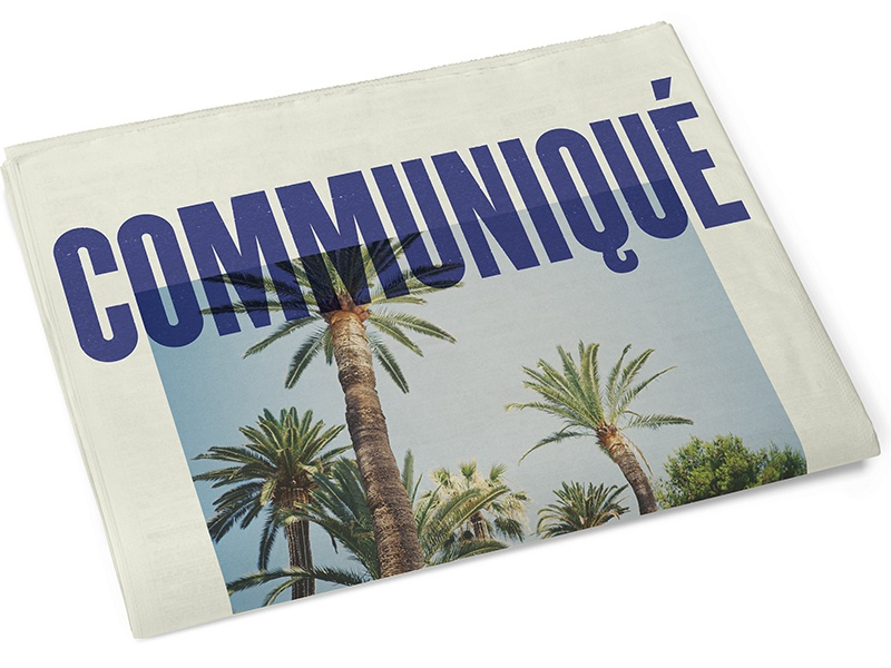 communiqué vintage retro old palms palm typography print paper newspapers magazine newspaper
