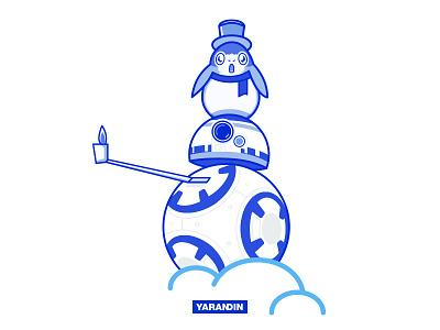 BB8 porg comics webdesign yarandin illustration star wars bb8