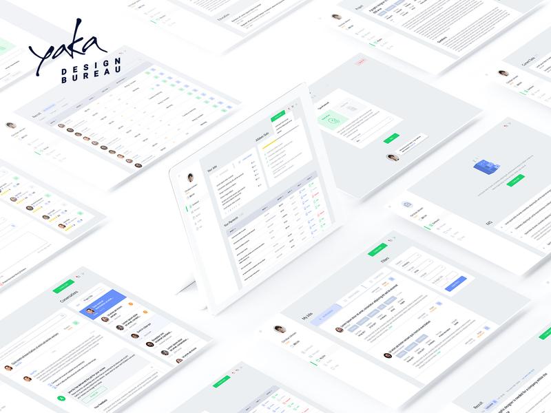 Yaka Design Bureau copywriter clean interface service marketplace system site animation interface presentation character design app ui ux design yaka bureau bureau yaka illustration