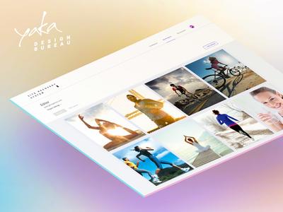 Yaka Design Bureau - Site Recovery System | UX/UI graphic clean interface service site yarandin platform system logo branding bureau yaka presentation interface app ui ux design