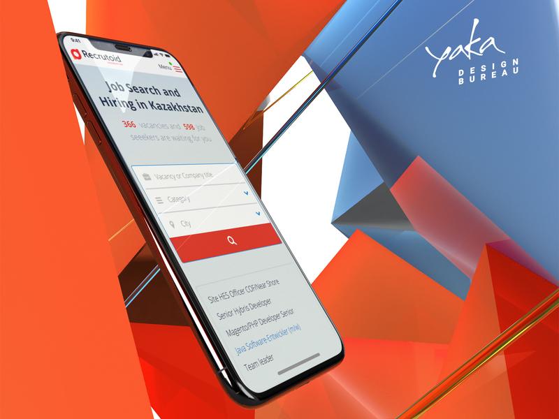 Recrutoid Kazakhstan | Hiring Service adaptive identity hiring responsive graphic platform clean interface service animation system site presentation design bureau app ui ux interface yaka